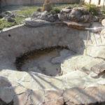 Создание пруда с натуральным камнем